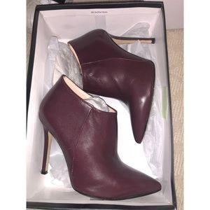 Shoes - Jou Pierre Italian Leather Burgundy Heeled Boots